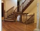 别墅室内家庭楼梯 弧形起步实木楼梯 水泥实木楼梯工厂定制