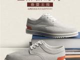 新款亚麻布休闲鞋系带单鞋男士帆布鞋韩版透气鞋子男鞋一件代发