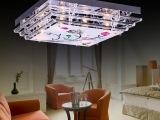 现代LED水晶灯客厅灯 热销长方形吸顶灯 大气客厅水晶灯具批发