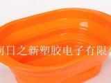 日之新,硅胶收纳盆 洗水果盆、蔬菜盆 硅胶折叠盆
