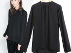 2014新款欧美女式衬衫批发 外贸品质简约多粒扣雪纺衬衣