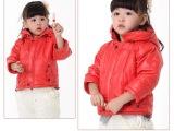 婴姿坊童装 新款婴童加厚棉衣 女童抓绒纯棉外套