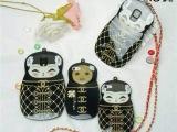 俄罗斯娃娃手机壳 iPhone5/5S梨花娃娃手机保护套 挂脖手