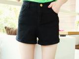 2015夏季新款女装女式休闲时尚多色裤翻边牛仔短裤批发