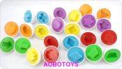 益智玩具 配对聪明蛋 扭蛋认识颜色和形状的拼插积木类玩具 袋装