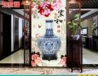 陶瓷背景墙 新中式青花瓷玄关背景墙 深圳厂家