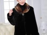 批发中年女冬装妈妈装冬季加厚仿貂毛大衣中