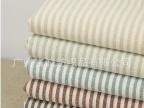 亚麻棉色织条纹 气质棉麻布 条纹织法