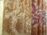 华顺纺织新款欧式古典高档简约剪花窗纱 卧室客厅飘窗纱窗帘布料