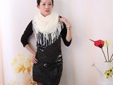 2013韩版秋冬天围脖披肩毛线围巾女镂空流苏百变保暖套头脖套