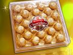 巧克力礼盒24粒方型盒 送礼糖果巧克力