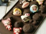 2014新款巧克力模具 大嘴猴 阿狸 麦兜妈妈 文艺kitty24个 QM146
