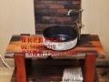 临汾市老船木家具茶桌办公桌餐桌椅子实木沙发茶几茶台鱼缸博古架