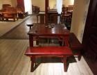 雍王府红木 独板八仙桌 5件套 缅甸花梨木 厂家直销