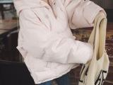 实拍冬季韩国连帽宽松加厚羽绒棉棉服卫衣式