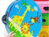 18cm 手铃鼓 摇鼓 奥尔夫乐器 儿童舞蹈玩具 幼儿宝宝音乐益