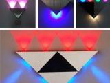 LED三角形铝材壁灯 3W/4W/5W/8W壁灯 变色 彩色壁灯
