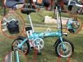 代驾折叠电动车 蓝岛锂电折叠自行车