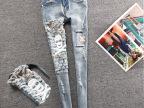 牛仔裤 女式 浅色中山牛仔裤女女式牛仔裤 秋冬新款女装牛仔裤子