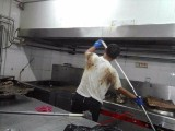 中堂道滘专业大型油烟机清洗,外墙清洗,空调清洗,地板打蜡