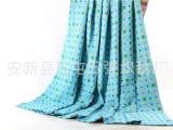 幸运四叶草三层纱布单双人毛巾被柔软舒适夏凉被床单2*2.3