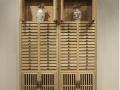 普洱茶饼架实木多层收纳柜客厅小展示柜老榆木茶饼柜抽屉式储物柜