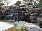假山景观石凉亭喷泉水景