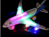 A380电动万向带音乐发光玩具飞机 超炫