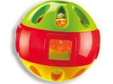 Auby/澳贝 婴儿铃铛手抓球 响铃滚滚球 幼儿运动健身玩具