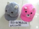 韩版儿童新款 小熊耳朵兔毛帽子maozi
