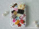 义乌奶油苹果壳食物手机挂件仿真食品DIY配件可订做免注塑模具费