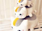 厂价直销批发 夏目友人卡通猫老师毛绒公仔玩具抱枕 招财猫小猫咪