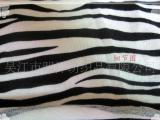 斑马纹印花麂皮绒、直条、乱条斑马纹转移印