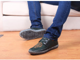 2014秋季新款 绒面皮时尚休闲男鞋民族风刺绣蓝色休闲男士单布鞋