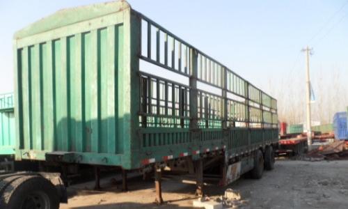 山东出售二手13米标箱半挂车 包提档过户 原车手续