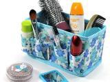 韩版多用途化妆品收纳盒/化妆品盒/无纺布化妆盒-蓝色小花