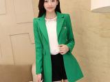 2014秋装新款韩版女装修身小西装外套中长款长袖小西服好质量