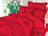 江西【厂家直销】朵朵婚庆 大红 全棉家纺 床上用品 结婚七件套