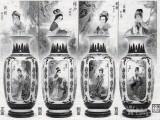 美丽东方富贵瓶 每件作品底部都有大师签章