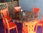 厂家直销:火焰鹅餐厅桌椅,醉鹅餐厅桌椅,农庄桌椅,碳化木,