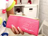 2013热卖新款女士钱包晚宴包金属鳄鱼纹手拿包手挽包亮面pu包