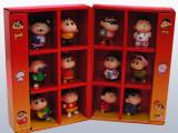 动漫周边蜡笔小新公仔高档礼盒装12件套珍藏版玩具