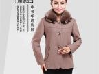 新款中老年女装秋冬装羊绒外套 中年妈妈装羊绒毛领大衣大码