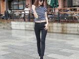 秋季女装黑色牛仔裤小脚长裤韩版铅笔裤新款潮弹力修身型裤子
