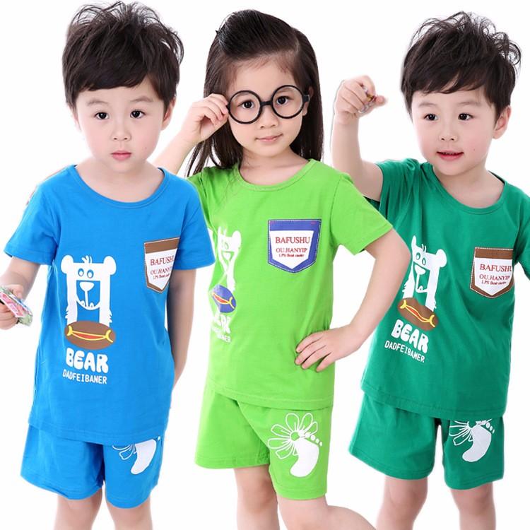 2018新款童装短袖 夏装 套装,厂家自产自销