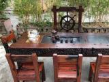 周口老船木中式茶几茶椅茶台简约阳台现代桌椅组合家具