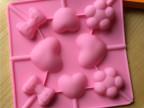 长期供应各类硅胶蛋糕模具 糖果模具 4孔棒棒糖模 巧克力模具