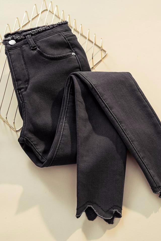 尾货库存女式挤压牛仔裤服装外贸女装尾货批发