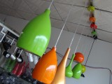 糖果色吊灯 LED餐厅吊灯 双头餐吊灯铝材现代饭厅厨房吊灯