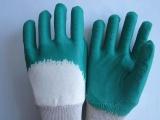 劳保 绒布乳胶皱纹半浸胶手套 优质劳保防